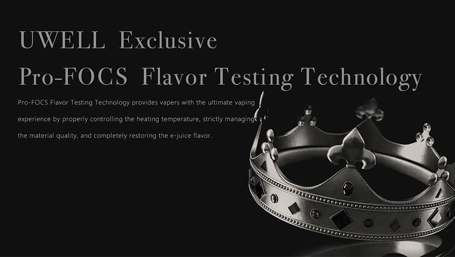 The Crown 5 sub ohm tank features Pro-FOCS flavour testing technology, allowing for enhanced, long-lasting flavour.