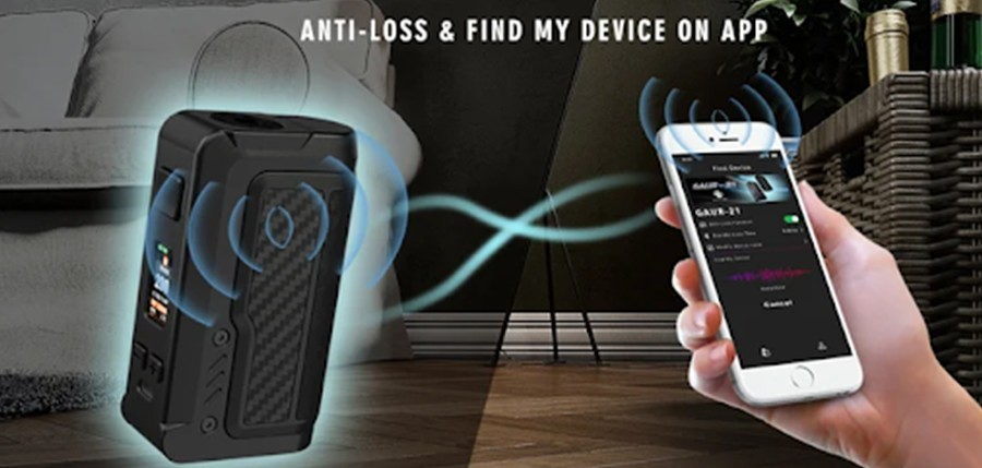 Track your vape and prevent loss with the 'Find My Vape' app that's compatible with the Gaur-21 vape device.