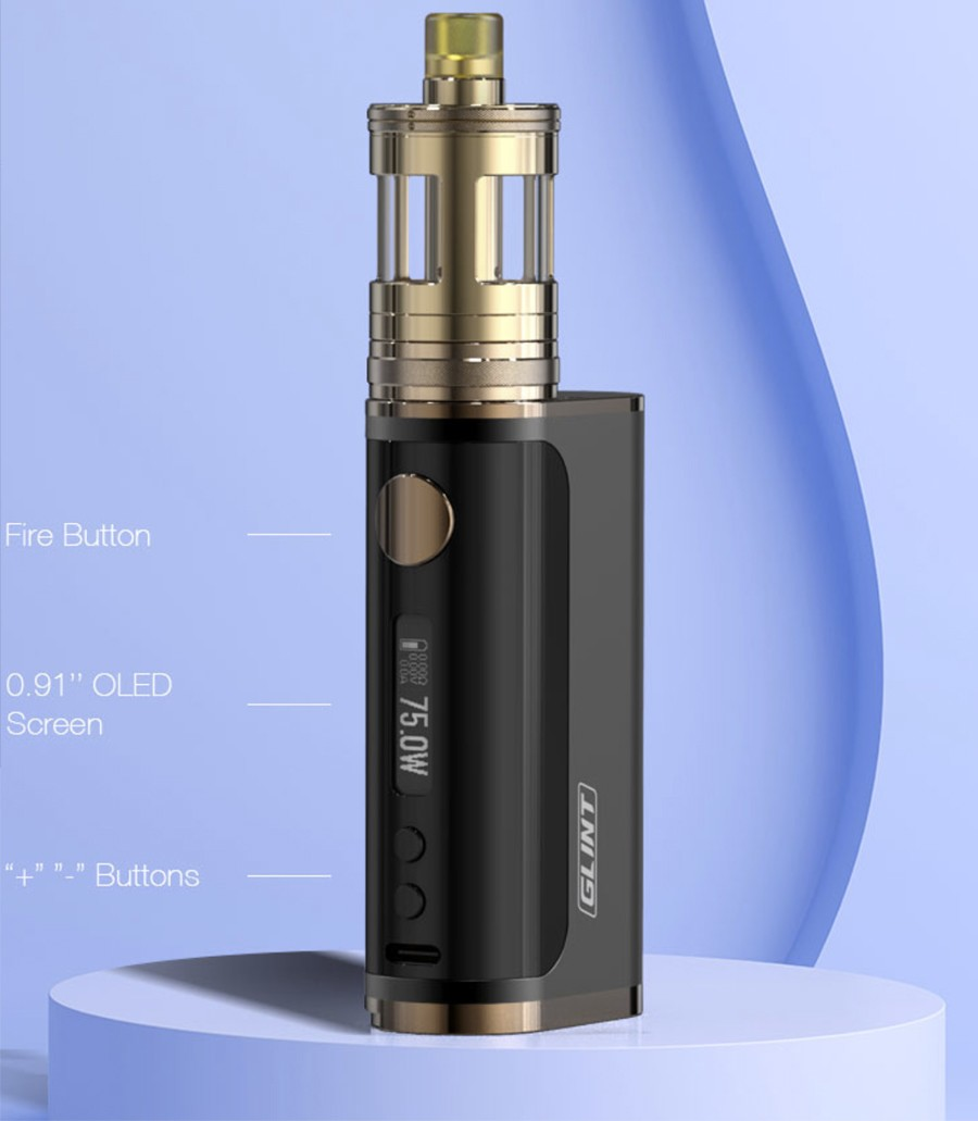 The Aspire Nautilus GT kit is comprised of the Aspire Glint mod and the Nautilus GT 2ml tank.