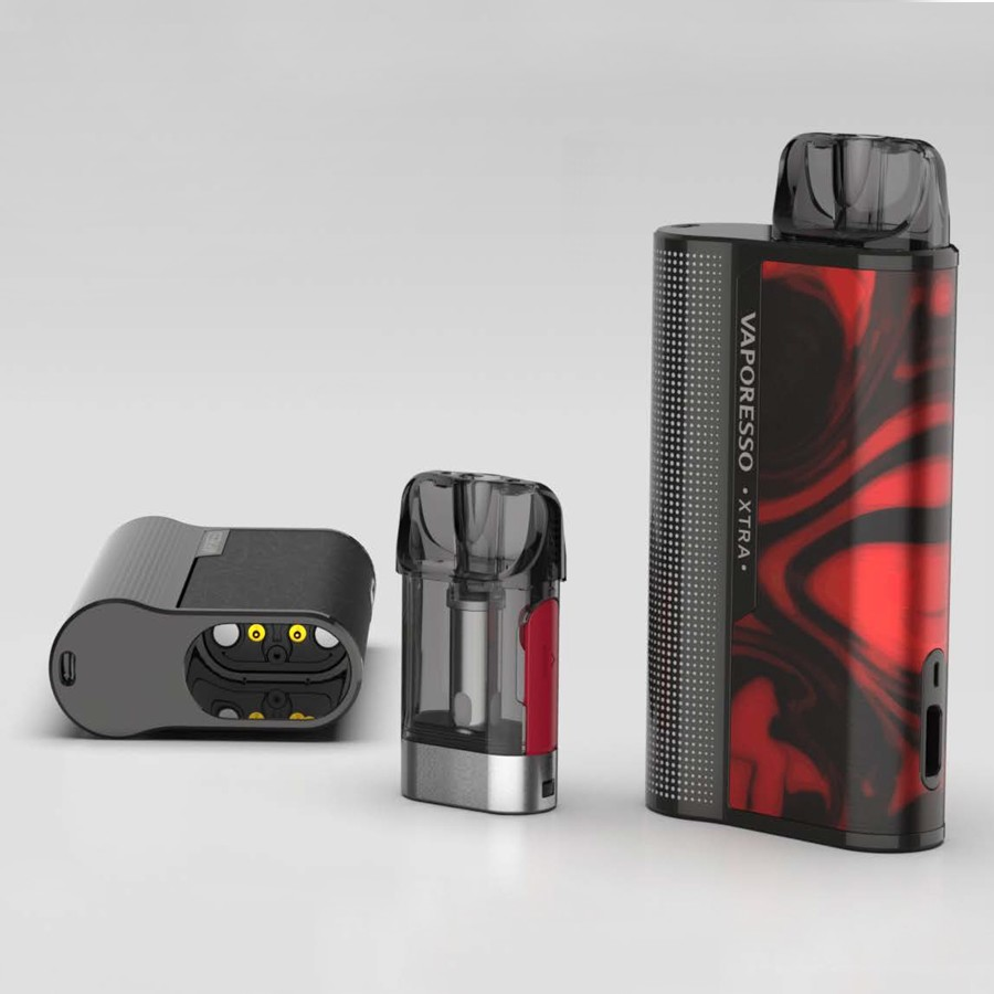 The Vaporesso XTRA pod kit is compact and stylish, with a high performance.