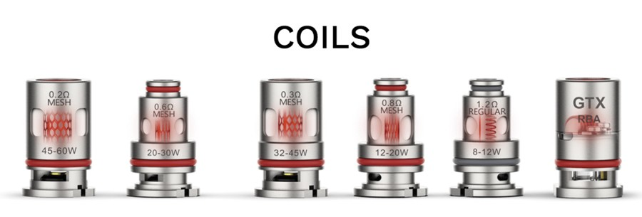The Target PM80 refillable pods employ the GTX coil series, available in a range of resistances to choose from.