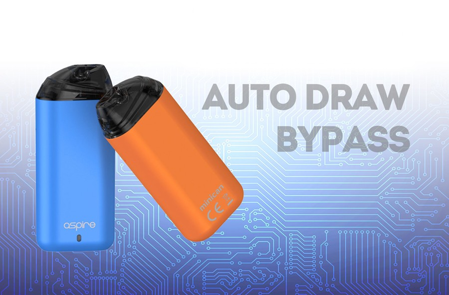The 350mAh Minican features inhale activation which doubles up as an auto draw bypass for rich, durable flavour.