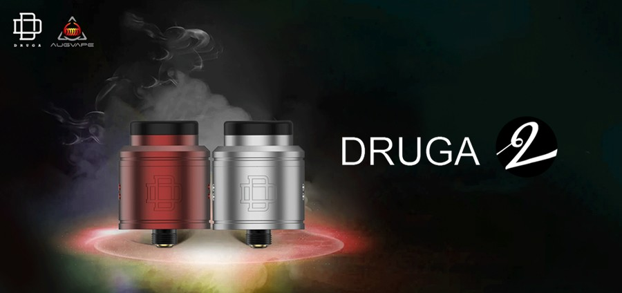 The Augvape Druga 2 RDA is recommended for advanced vapers and can be used to support MTL & DTL vaping.