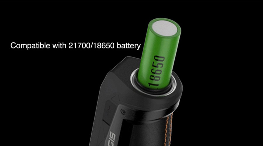 Powered by either a 18650 battery or 21700 battery, the GeekVape Max kit offers a high 100W output and improved battery life.