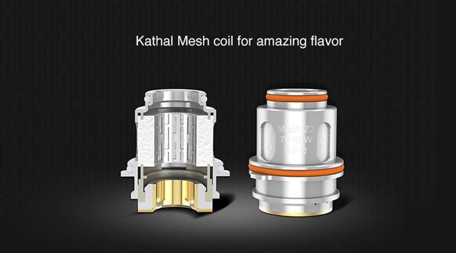 The GeekVape Zeus mesh coils feature a 0.2 Ohm resistance and a mesh coil build for improved flavour.