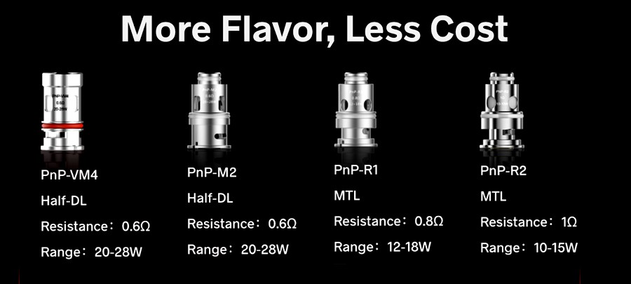 The Argus Air standard pod can be used with any VooPoo PnP coil that is 0.6 Ohm or higher, giving you more ways to customise the kit.