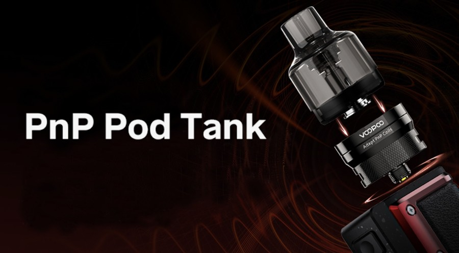 The Argus pod tank combines the functionality of a pod with the vapour production of a sub ohm tank.