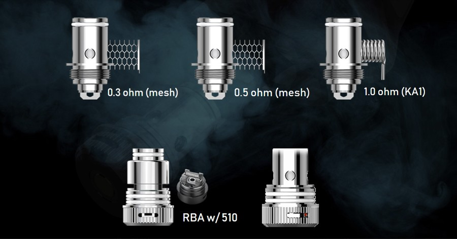 The OXVA UNI coil series is compatible with the Origin pod kit as well as other OXVA vape kits, there are versions available to support both mouth to lung and direct to lung vaping.