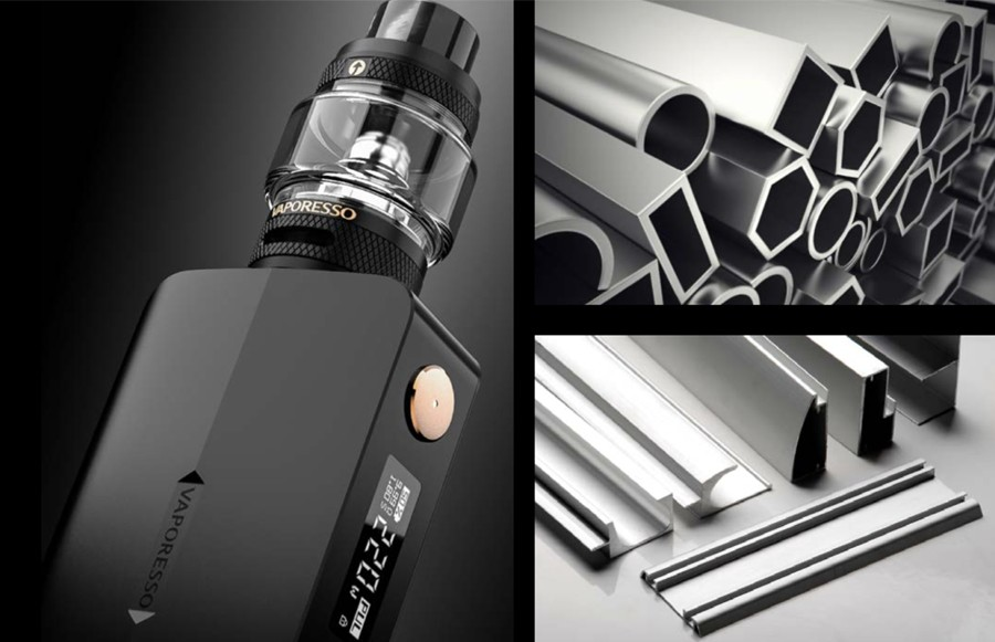 The 200W Gen X kit is constructed from durable aluminium metal, offering style with resilience.