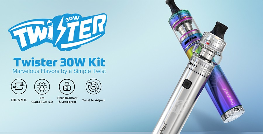 The Freemax Twister kit is versatile and simple to use, recommended for vapers of all experience levels.