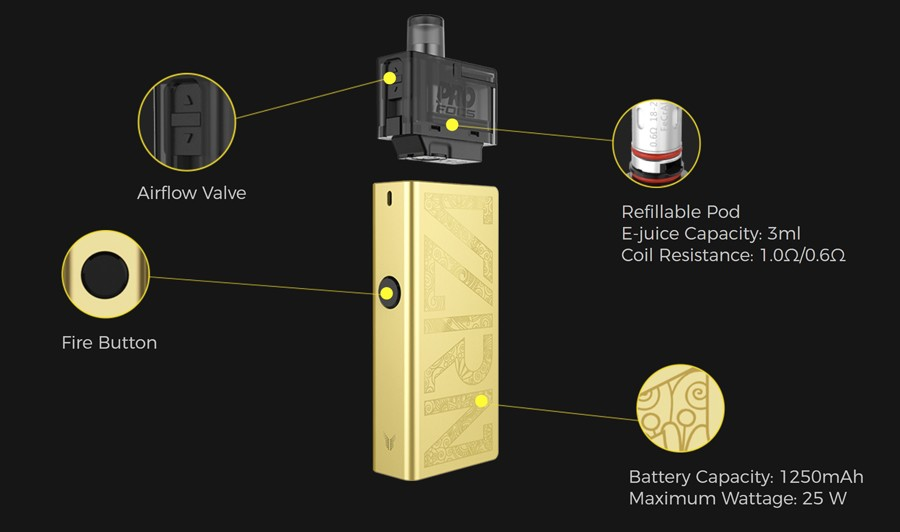 Uwell Valyrian Pod Kit | Features | Vape.co.uk
