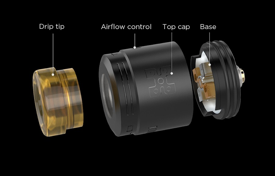 The Geekvape Talo X is a 24mm RDA which is fitted with a 510 pin but can also be used with squonk mods due to a BF pin.