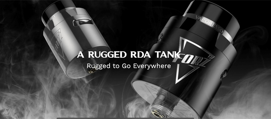 The Forz RDA features a dual adjustable honeycomb airflow, offering a loose inhale or a tighter more restricted draw for vapers to choose from.