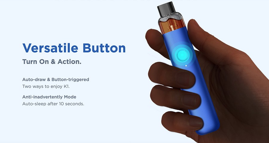 Single button activation means there are no confusing menu systems to deal with, you can vape at the push of a button.